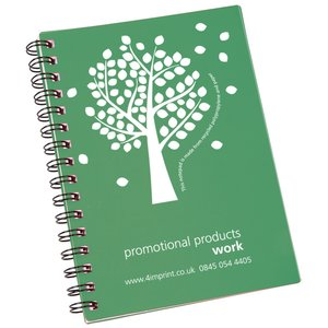 A5 Recycled Notebook - Tree Design
