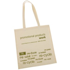 100% Cotton Promotional Shopper - Re use Design Main Image