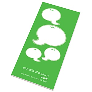 Slimline 50 Sheet Notepad - Caption Design Main Image