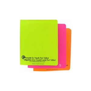 DISC Recycled A5 Polypropylene Ring Binder