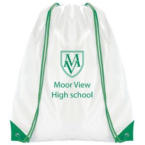 Essential Drawstring Bag - White with Coloured Cords - 3 Day Main Image