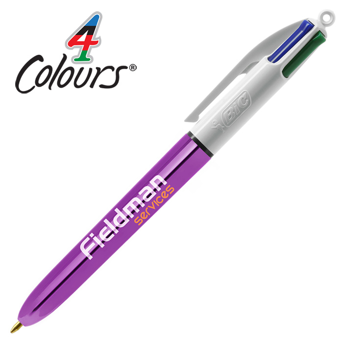 Very best 4imprint.co.uk: BIC® 4 Colour Pen - Shine Barrel 300821S OP74