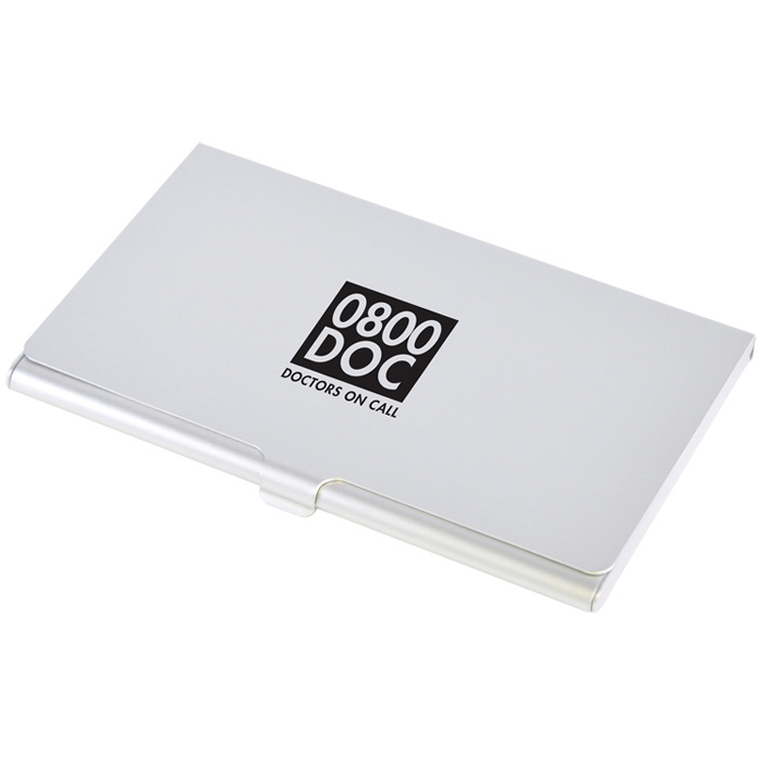 4imprint slimline aluminium business card case 100543 slimline aluminium business card case main image loading zoom reheart Gallery