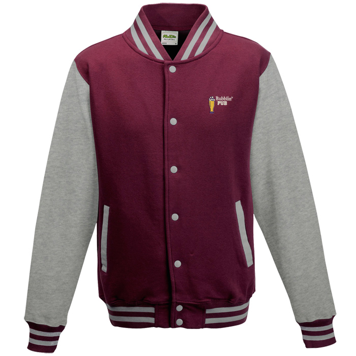 Embroidered fleece coat with hood - L & XL only