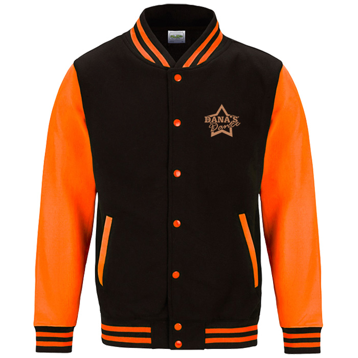 Imprint ie awdis electric varsity jacket embroidered
