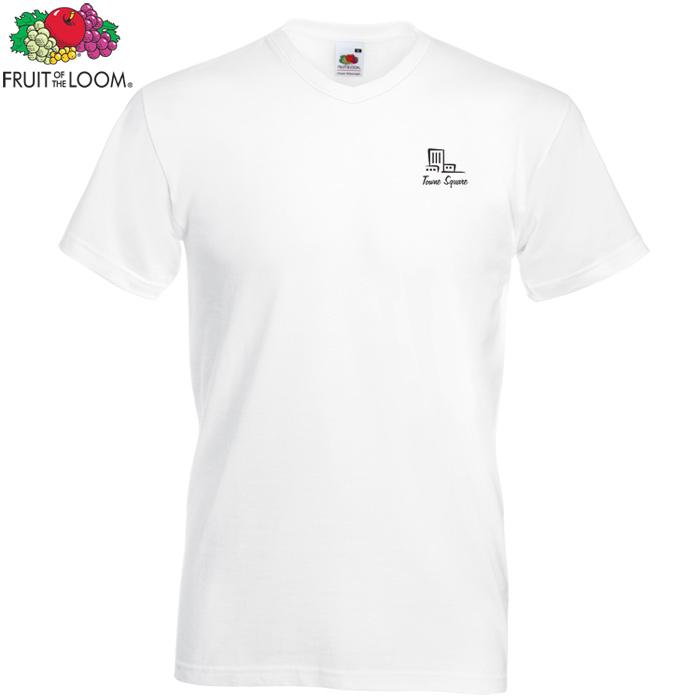 e4601d0b579e1 4imprint.co.uk  Fruit of the Loom Men s Value V-Neck T-Shirt - White 602152W