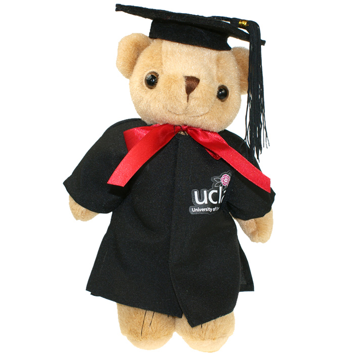 4imprint.co.uk: 25cm Jointed Honey Bear with Cap & Gown 503020C