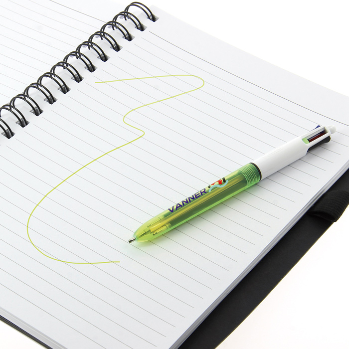 Image is loading BIC-4-Colours-Shine-Retractable-Ball-Pens-Pink-
