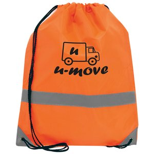 Reflective Hi Vis Drawstring Bag Image 3 of 4