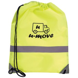 Reflective Hi Vis Drawstring Bag Image 4 of 4