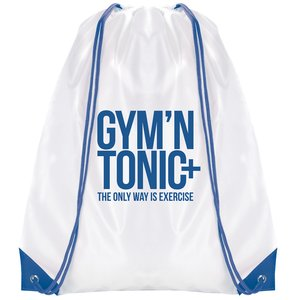 Essential Drawstring Bag - White with Coloured Cords - 3 Day Image 1 of 6