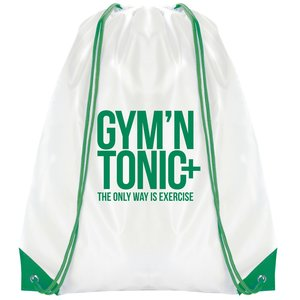 Essential Drawstring Bag - White with Coloured Cords - 3 Day Image 2 of 6