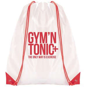 Essential Drawstring Bag - White with Coloured Cords - 3 Day Image 4 of 6
