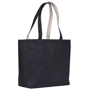 Highstead Jute Tote - Black Image 1 of 1