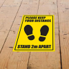 View Extra Image 1 of 1 of Laminated Anti-Slip Vinyl A5 Floor Stickers