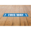 View Extra Image 2 of 3 of Laminated Anti-Slip Vinyl Rectangle Floor Stickers - 300 x 50mm