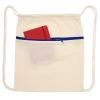 View Image 2 of 3 of Oregon Zip Cotton Drawstring Bag