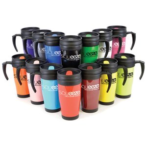 Colour Tab Promotional Travel Mug Image 2 of 2