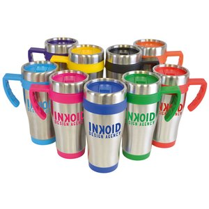Colour Trim Travel Mug Image 1 of 2