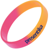 View Extra Image 1 of 1 of Childrens Silicone Wristband - Custom 2 Colours