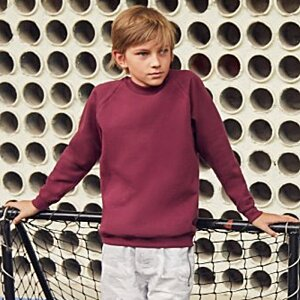 Fruit of the Loom Kid's Raglan Sweatshirt Image 6 of 9