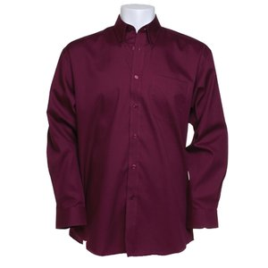 Kustom Kit Mens Corporate Oxford Shirt - Long Sleeve Image 1 of 10
