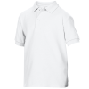View Extra Image 1 of 3 of Gildan Kid's DryBlend Double Pique Polo Shirt - White - Printed