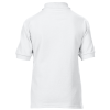 View Extra Image 3 of 3 of Gildan Kid's DryBlend Double Pique Polo Shirt - White - Printed