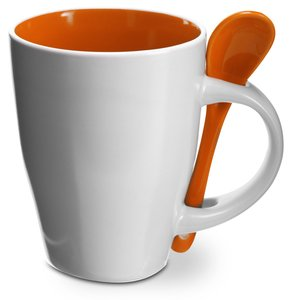 Coffee Mug With Spoon Image 1 of 5