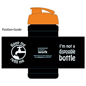 500ml Water Bottle - Not Disposable Design Image 2 of 13