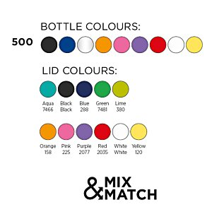500ml Water Bottle - Not Disposable Design Image 3 of 13