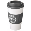 View Extra Image 12 of 13 of Americano Travel Mug - White with Coloured Lid