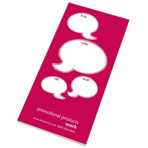 Slimline 50 Sheet Notepad - Caption Design Image 1 of 5