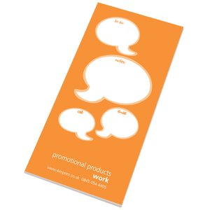 Slimline 50 Sheet Notepad - Caption Design Image 4 of 5