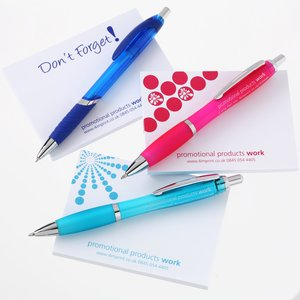 A7 Sticky Notes & Curvy Pen Gift Pack - Exclusive Colours Image 1 of 1