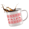 View Extra Image 1 of 3 of 285ml Retro Enamel Mug - Full Colour - Individual Name