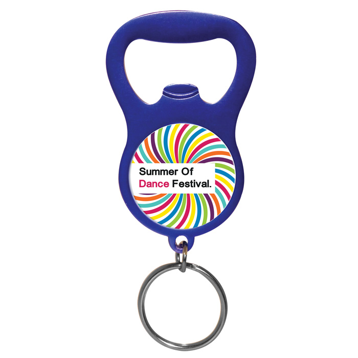 colour pop bottle opener keyring football design 900995f imprinted with your logo. Black Bedroom Furniture Sets. Home Design Ideas