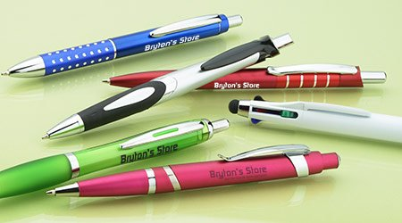 Promotional writing products that includes pens